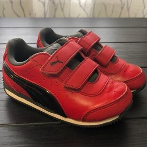 Gently used red light up Puma's